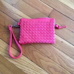 Charming Charlie's coral wristlet